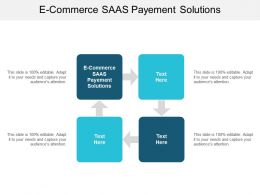 E Commerce Saas Payement Solutions Ppt Powerpoint Presentation Infographics Template Cpb