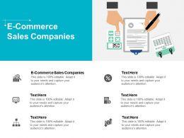 E Commerce Sales Companies Ppt Powerpoint Presentation Show Cpb