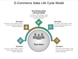 E Commerce Sales Life Cycle Model Ppt Powerpoint Presentation Icon Pictures Cpb