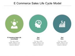 E Commerce Sales Life Cycle Model Ppt Powerpoint Presentation Ideas Master Slide Cpb