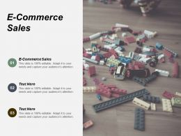 E Commerce Sales Ppt Powerpoint Presentation Infographic Template Tips Cpb