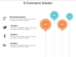 E Commerce Solution Ppt Powerpoint Presentation Gallery Background Images Cpb