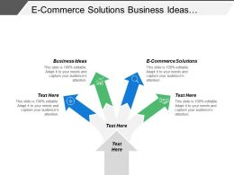 E Commerce Solutions Business Ideas Business Opportunities Business Budget Cpb