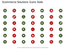 E Commerce Solutions Icons Slide Ecommerce Solutions Ppt Formats