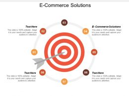 E Commerce Solutions Ppt Powerpoint Presentation Infographic Template Introduction Cpb