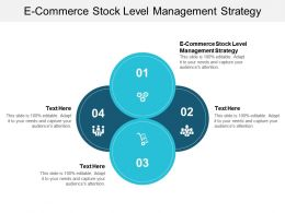 E Commerce Stock Level Management Strategy Ppt Powerpoint Presentation Slides Format Ideas Cpb
