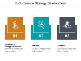 E Commerce Strategy Development Ppt Powerpoint Presentation Model Smartart Cpb