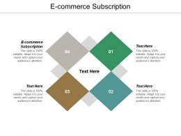 E Commerce Subscription Ppt Powerpoint Presentation Summary Pictures Cpb
