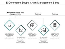 E Commerce Supply Chain Management Sales Ppt Powerpoint Presentation Icon Visuals Cpb