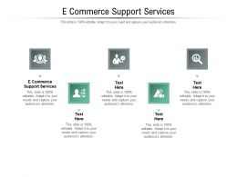 E Commerce Support Services Ppt Powerpoint Presentation Icon Format Cpb