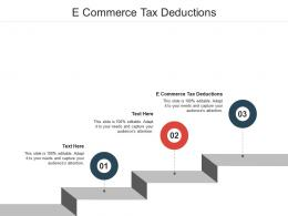 E Commerce Tax Deductions Ppt Powerpoint Presentation Slides Background Image Cpb