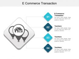 E Commerce Transaction Ppt Powerpoint Presentation File Graphics Download Cpb