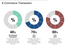 E Commerce Transaction Ppt Powerpoint Presentation Gallery Files