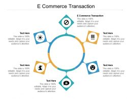 E Commerce Transaction Ppt Powerpoint Presentation Ideas Gallery Cpb