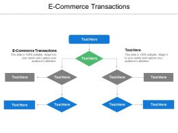 E Commerce Transactions Ppt Powerpoint Presentation Icon Graphics Pictures Cpb