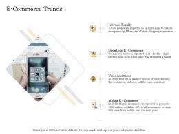 E Commerce Trends Online Trade Management Ppt Infographics