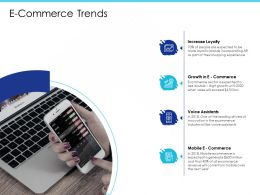 E Commerce Trends Voice Assistants Ppt Powerpoint Presentation Ideas Images