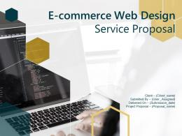E Commerce Web Design Service Proposal Powerpoint Presentation Slides