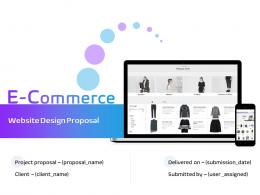 E Commerce Website Design Proposal Powerpoint Presentation Slides