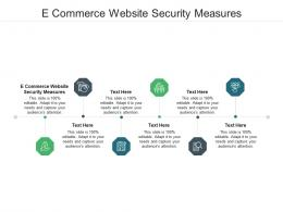 E Commerce Website Security Measures Ppt Powerpoint Presentation Guidelines Cpb