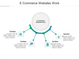 E Commerce Websites Work Ppt Powerpoint Presentation Infographics Deck Cpb