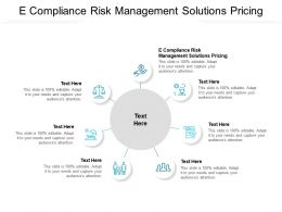 E Compliance Risk Management Solutions Pricing Ppt Powerpoint Presentation Professional Rules Cpb