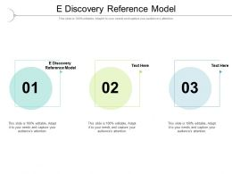 E Discovery Reference Model Ppt Powerpoint Presentation Model Good Cpb