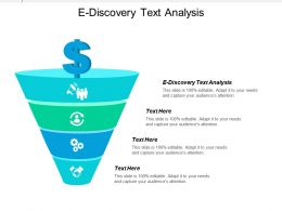 E Discovery Text Analysis Ppt Powerpoint Presentation Gallery Infographic Template