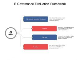 E Governance Evaluation Framework Ppt Powerpoint Presentation Layouts Cpb