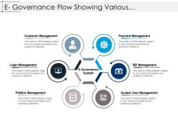 E Governance Flow Showing Various Management Systems