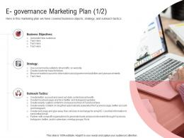 E Governance Marketing Plan New Electronic Government Processes Ppt Inspiration