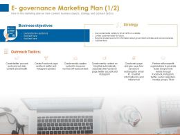 E Governance Marketing Plan Outreach Tactics Ppt Powerpoint Presentation Background