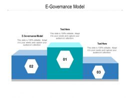 E Governance Model Ppt Powerpoint Presentation Infographics Templates Cpb