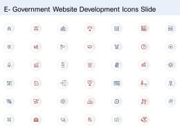 E Government Website Development Icons Slide Ppt Example File