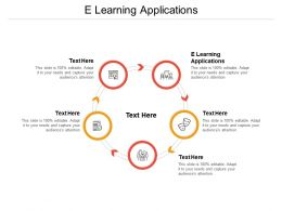 E Learning Applications Ppt Powerpoint Presentation Show Outline Cpb