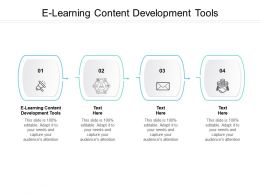E Learning Content Development Tools Ppt Powerpoint Presentation Show Templates Cpb