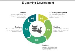 E Learning Development Ppt Powerpoint Presentation Infographic Template Slide Cpb
