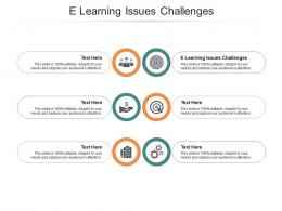E Learning Issues Challenges Ppt Powerpoint Presentation File Ideas Cpb