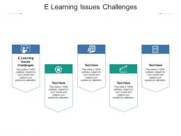 E Learning Issues Challenges Ppt Powerpoint Presentation File Slides Cpb