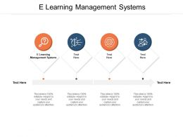 E Learning Management Systems Ppt Powerpoint Pictures Graphics Cpb