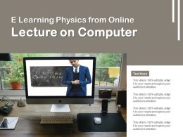 E Learning Physics From Online Lecture On Computer