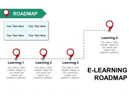 E Learning Roadmap Ppt Inspiration