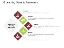 E Learning Security Awareness Ppt Powerpoint Presentation Summary Layouts Cpb