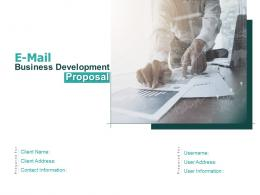 E Mail Business Development Proposal Powerpoint Presentation Slides