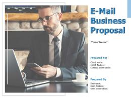 E Mail Business Proposal Powerpoint Presentation Slides