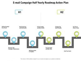E Mail Campaign Half Yearly Roadmap Action Plan