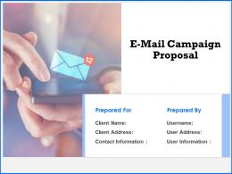 E Mail Campaign Proposal Powerpoint Presentation Slides