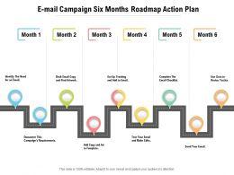 E Mail Campaign Six Months Roadmap Action Plan