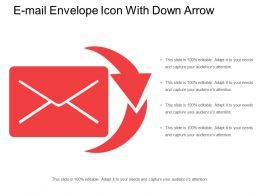 E Mail Envelope Icon With Down Arrow