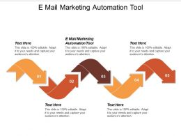 E Mail Marketing Automation Tool Ppt Powerpoint Presentation Gallery Clipart Images Cpb
